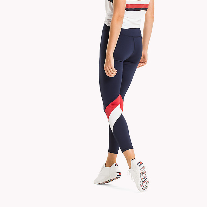 TOMMY HILFIGER Leggings in color block - BLACK BEAUTY - TOMMY HILFIGER Donne - dettaglio immagine 1