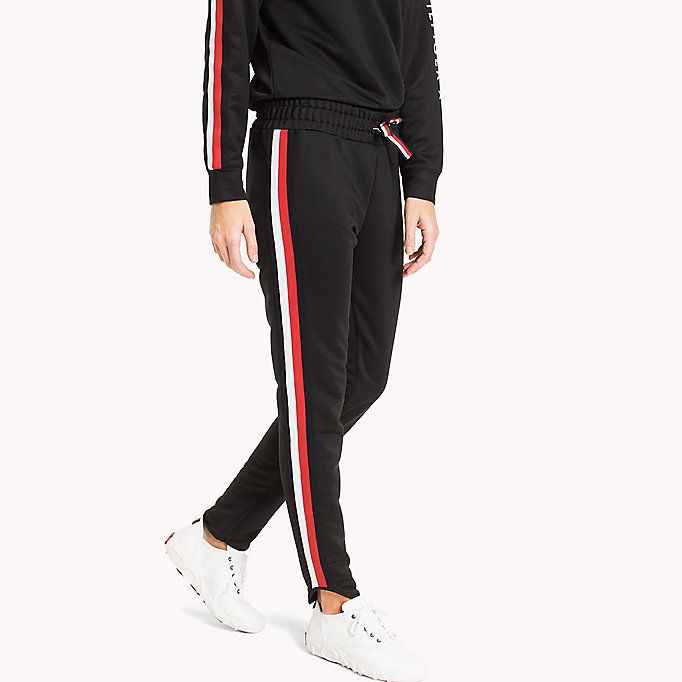 TOMMY HILFIGER Signature Tape Joggers - CRIMSON - TOMMY HILFIGER Clothing - main image