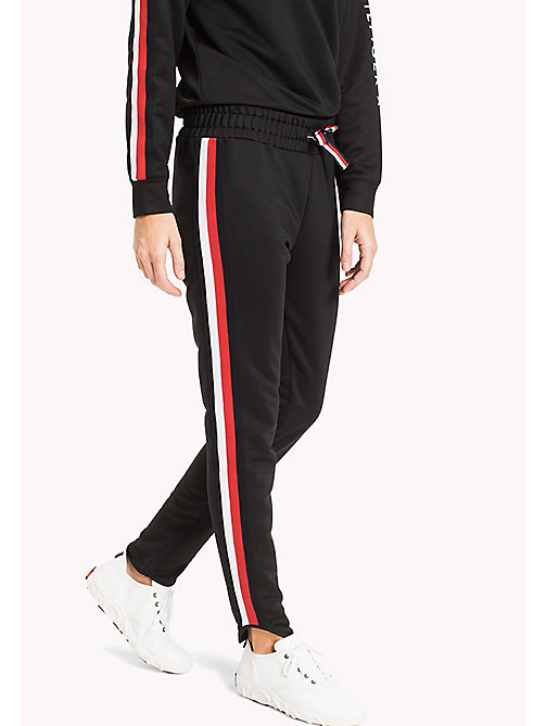 TOMMY HILFIGER Signature Tape Joggers - BLACK BEAUTY - TOMMY HILFIGER Athleisure - main image