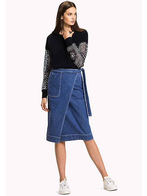 TOMMY HILFIGER Slim Fit Denim Skirt - LYLYAN - TOMMY HILFIGER Skirts - main image