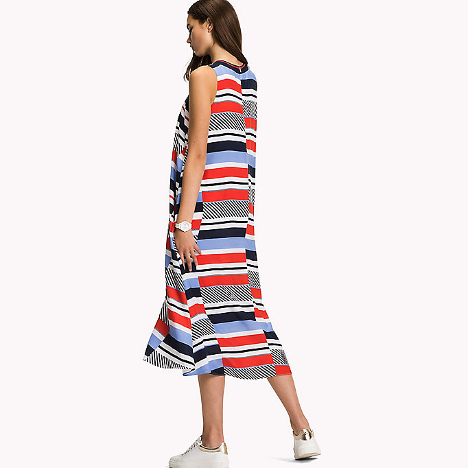 TOMMY HILFIGER Midi Dress - FLAME SCARLET - TOMMY HILFIGER Women - detail image 1