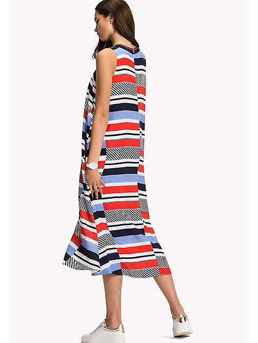 TOMMY HILFIGER Stripe Midi Dress - SPEED PATCHWORK STP / BLACK BEAUTY - TOMMY HILFIGER Midi - detail image 1