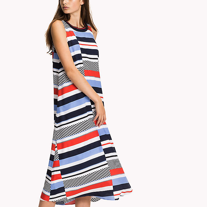 TOMMY HILFIGER Midi Dress - FLAME SCARLET - TOMMY HILFIGER Women - detail image 3