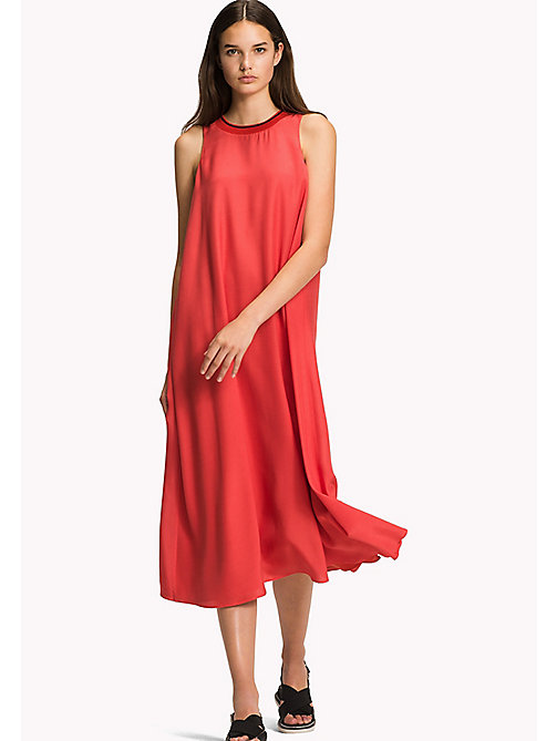 TOMMY HILFIGER Midi Dress - FLAME SCARLET - TOMMY HILFIGER Vacation Style - main image