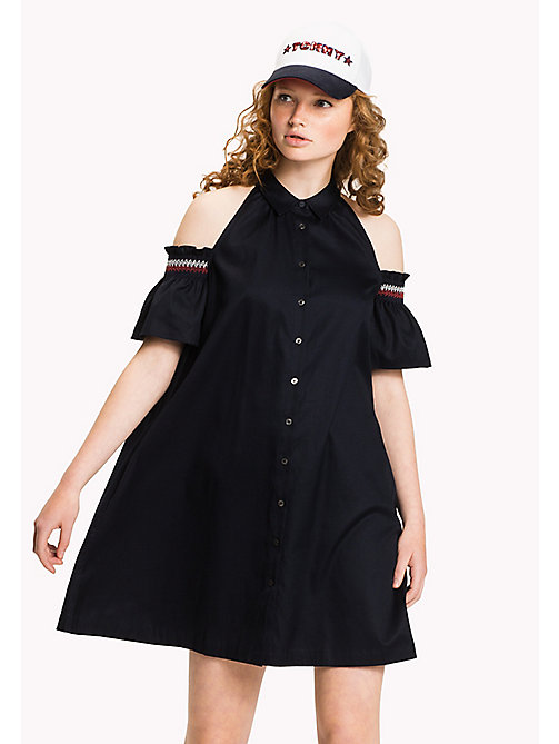 TOMMY HILFIGER Off-Shoulder Dress - MIDNIGHT - TOMMY HILFIGER Vacation Style - main image