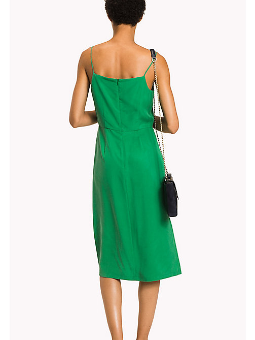 TOMMY HILFIGER V-Neck Midi Dress - JELLY BEAN - TOMMY HILFIGER Occasion wear - detail image 1