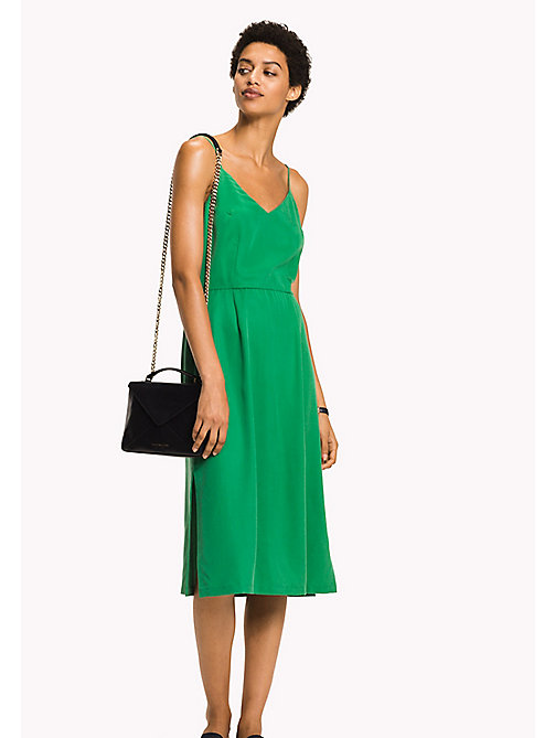 TOMMY HILFIGER V-Neck Midi Dress - JELLY BEAN - TOMMY HILFIGER Midi - main image