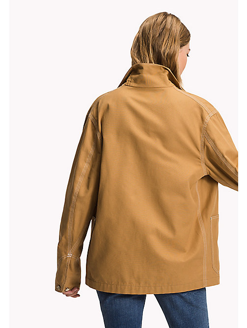 TOMMY HILFIGER Cotton Canvas Patch Pocket Coat - CLASSIC CAMEL - TOMMY HILFIGER New arrivals - detail image 1