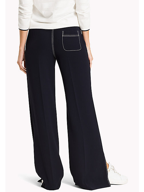 TOMMY HILFIGER Wide Leg Trousers - MIDNIGHT - TOMMY HILFIGER The Office Edit - detail image 1