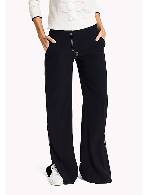 TOMMY HILFIGER Wide Leg Trousers - MIDNIGHT - TOMMY HILFIGER The Office Edit - main image