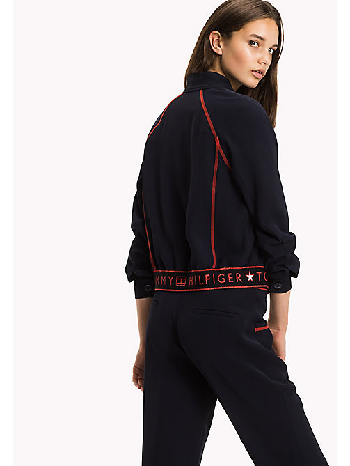 TOMMY HILFIGER Athletic Regular Fit Jacket - MIDNIGHT - TOMMY HILFIGER Women - detail image 1