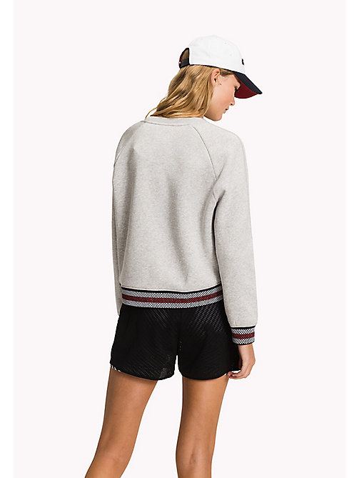 TOMMY HILFIGER Signature Stripe Comfort Fit Sweatshirt - LIGHT GREY HTR - TOMMY HILFIGER Sweatshirts - detail image 1