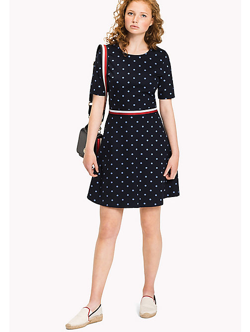Punto Di Roma Polka Dot Dress - CLASSIC POLKA DOT PRT / NAVY BLAZER -  Clothing - main image