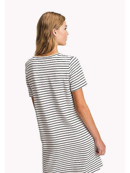 TOMMY HILFIGER Stripe Regular Fit Dress - MIDNIGHT / CLASSIC WHITE STP - TOMMY HILFIGER Mini - detail image 1