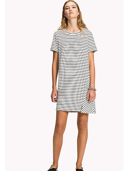 TOMMY HILFIGER Stripe Regular Fit Dress - MIDNIGHT / CLASSIC WHITE STP - TOMMY HILFIGER Mini - main image