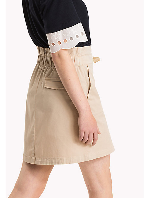 TOMMY HILFIGER Organic Cotton Bow Skirt - PEBBLE - TOMMY HILFIGER Women - detail image 1
