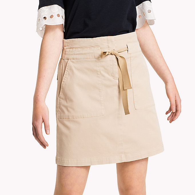TOMMY HILFIGER Organic Cotton Bow Skirt - DUTCH BLUE - TOMMY HILFIGER Women - detail image 2