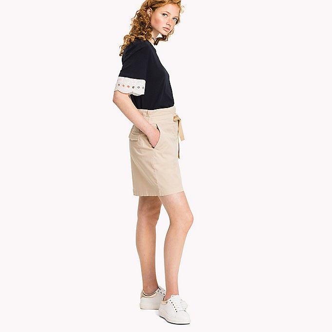 TOMMY HILFIGER Organic Cotton Bow Skirt - DUTCH BLUE - TOMMY HILFIGER Clothing - main image