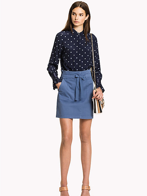 TOMMY HILFIGER Organic Cotton Bow Skirt - DUTCH BLUE - TOMMY HILFIGER Skirts - main image