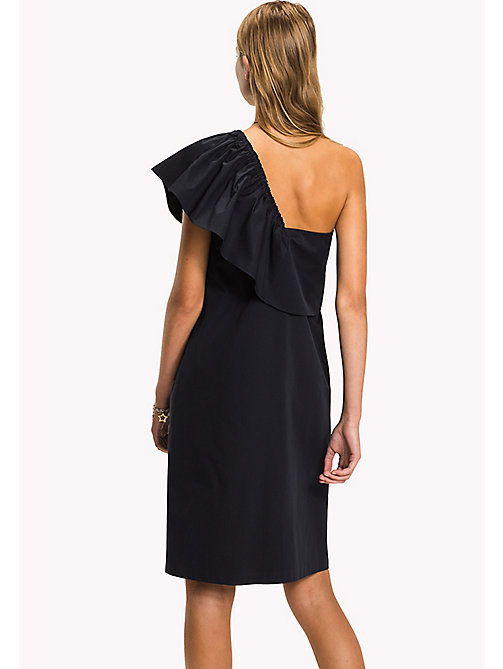 TOMMY HILFIGER Asymmetrical Neck Ruffle Dress - MIDNIGHT - TOMMY HILFIGER Occasion wear - detail image 1