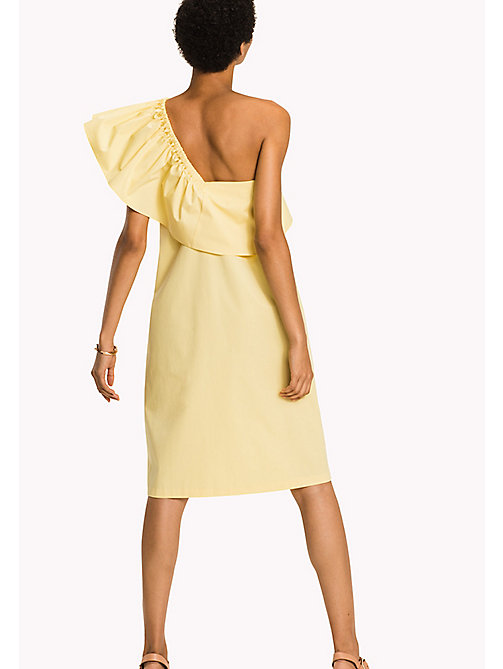 TOMMY HILFIGER Asymmetrical Neck Ruffle Dress - SUNSHINE - TOMMY HILFIGER Occasion wear - detail image 1