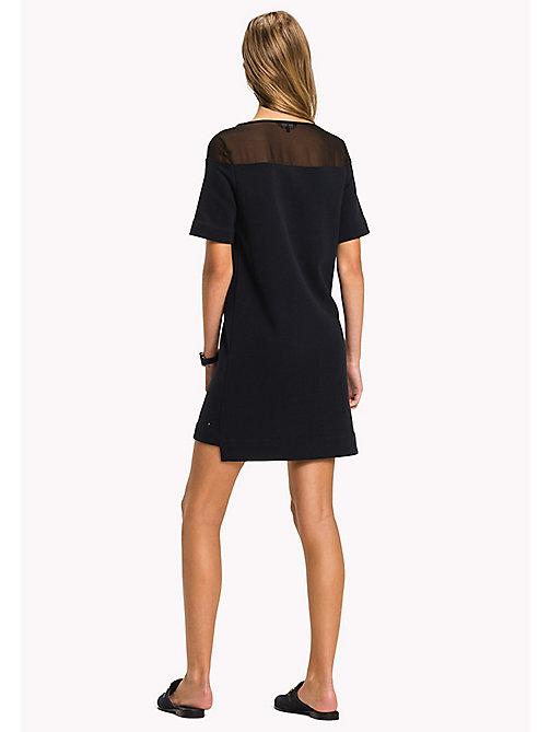 TOMMY HILFIGER Mesh Logo Regular Fit Dress - MIDNIGHT - TOMMY HILFIGER Midi - detail image 1