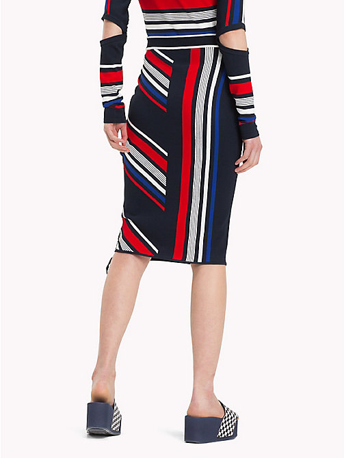 TOMMY HILFIGER Gigi Hadid Speed Striped Skirt - MIDNIGHT / MULTI - TOMMY HILFIGER Women - detail image 1