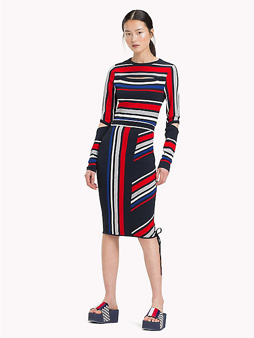 TOMMY HILFIGER Gigi Hadid Speed Striped Skirt - MIDNIGHT MULTI - TOMMY HILFIGER TOMMYXGIGI - main image