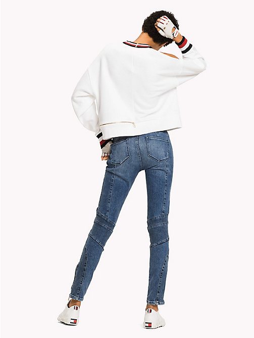 TOMMY HILFIGER Gigi Hadid Cut-Out  Sweatshirt - CLASSIC WHITE - TOMMY HILFIGER Clothing - detail image 1