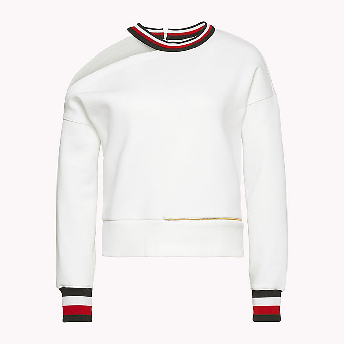 TOMMY HILFIGER Gigi Hadid Cut-Out  Sweatshirt - FLAME SCARLET - TOMMY HILFIGER Women - detail image 3