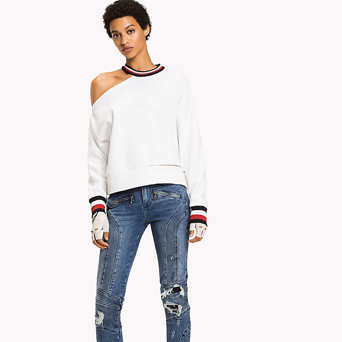 TOMMY HILFIGER Gigi Hadid Cut-Out  Sweatshirt - FLAME SCARLET - TOMMY HILFIGER Women - main image