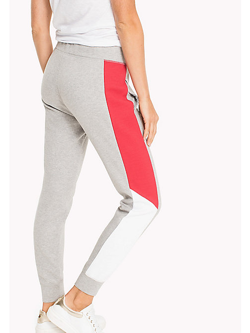 TOMMY HILFIGER Colour-Blocked Joggers - LIGHT GREY HTR - TOMMY HILFIGER Athleisure - detail image 1
