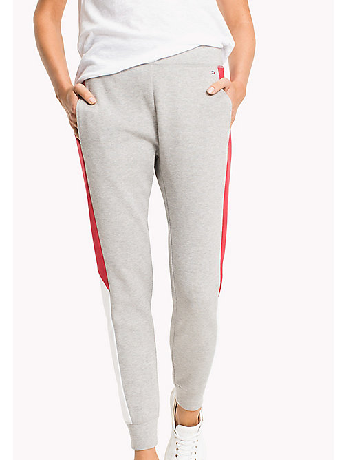 TOMMY HILFIGER Colour-Blocked Joggers - LIGHT GREY HTR - TOMMY HILFIGER Athleisure - main image