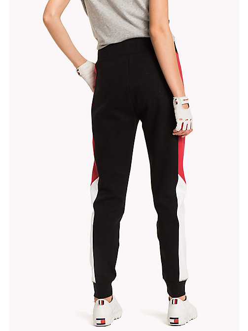 TOMMY HILFIGER Colour-Blocked Joggers - BLACK BEAUTY - TOMMY HILFIGER Clothing - detail image 1