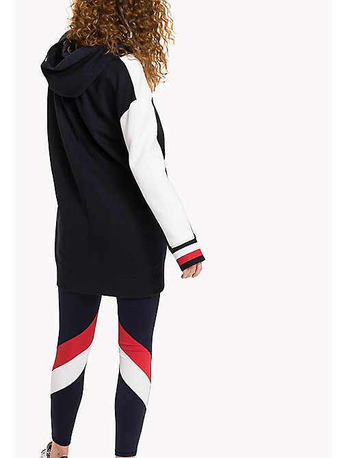 TOMMY HILFIGER Colour-Blocked Hoodie Dress - MIDNIGHT - TOMMY HILFIGER Mini - detail image 1