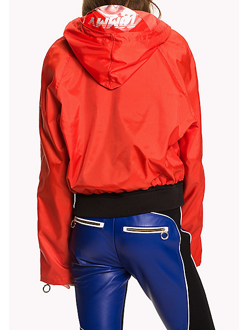 TOMMY HILFIGER Gigi Hadid Cropped Anorak - FLAME SCARLET - TOMMY HILFIGER Clothing - detail image 1