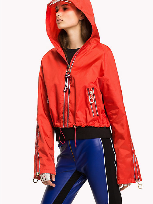 TOMMY HILFIGER Gigi Hadid Cropped Anorak - FLAME SCARLET - TOMMY HILFIGER Clothing - main image