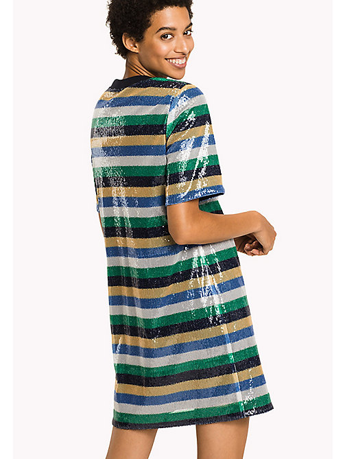 TOMMY HILFIGER Sequin Stripe Dress - SEQUIN STP / JELLY BEAN - TOMMY HILFIGER Clothing - detail image 1