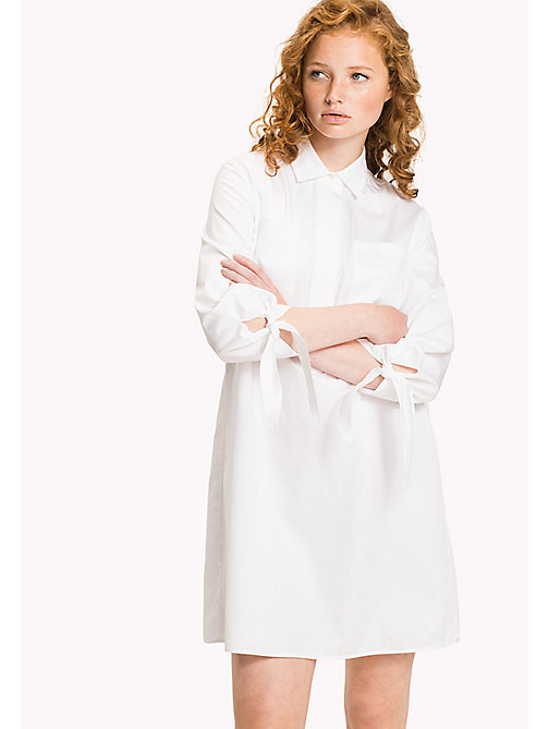 TOMMY HILFIGER Crisp Cotton Shirt Dress - CLASSIC WHITE - TOMMY HILFIGER Mini - main image
