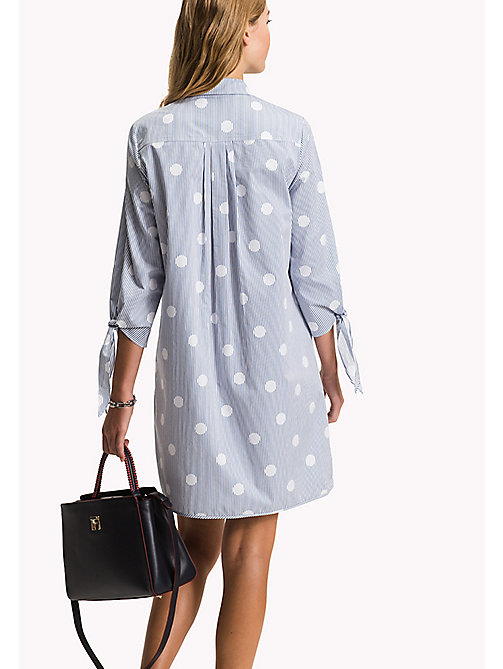 TOMMY HILFIGER Crisp Cotton Shirt Dress - OVERSIZED OVERPRINTED POLKA DOT PRT / CL - TOMMY HILFIGER Платье-рубашка - подробное изображение 1