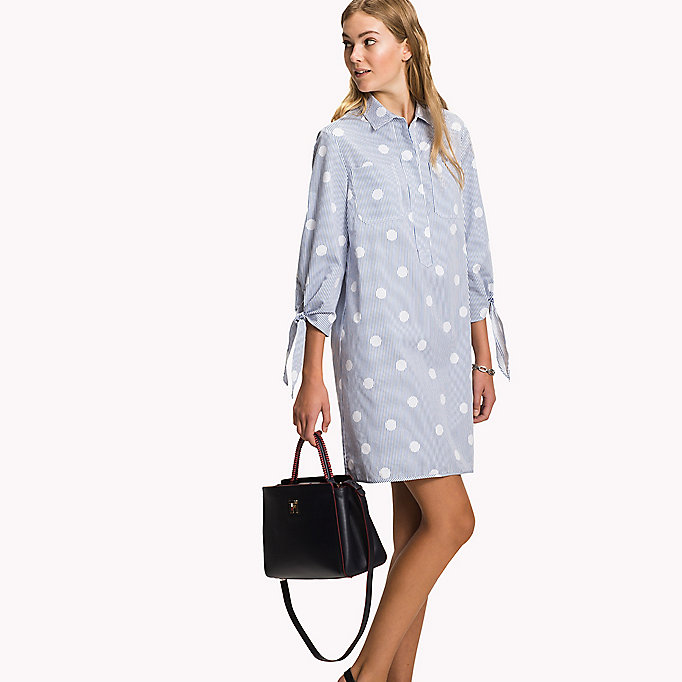 TOMMY HILFIGER Crisp Cotton Shirt Dress - CLASSIC WHITE - TOMMY HILFIGER Women - main image