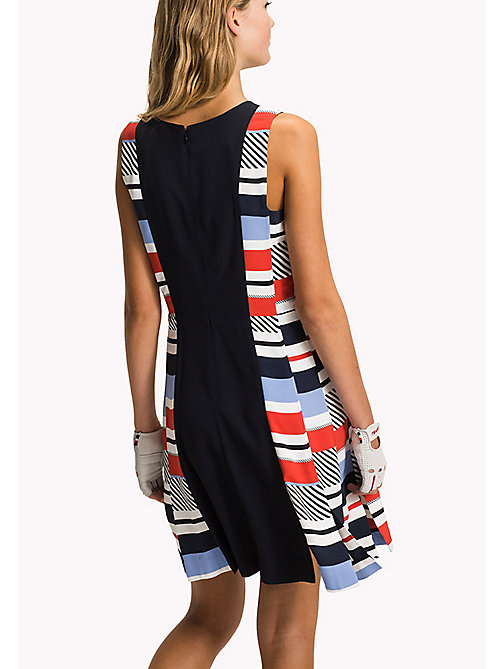 TOMMY HILFIGER Stripe Panel Fitted Dress - SPEED PATCHWORK STP / NAVY BLAZER - TOMMY HILFIGER Midi - detail image 1
