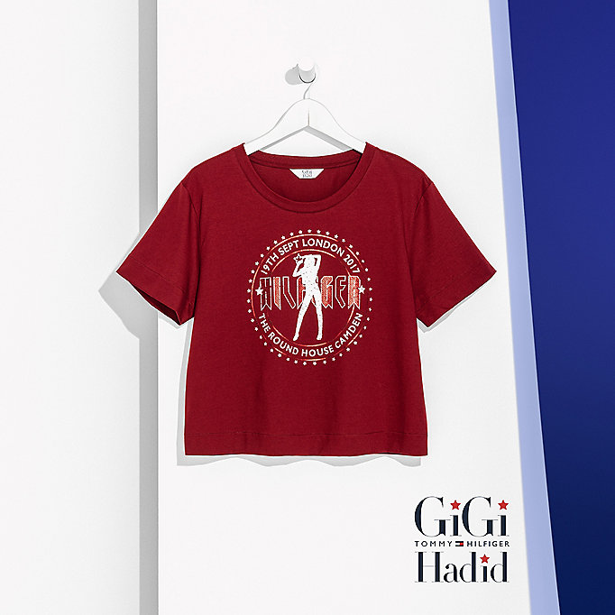 TOMMY HILFIGER Rock Tour Crop T-Shirt Gigi Hadid - BLACK BEAUTY - TOMMY HILFIGER Women - detail image 4