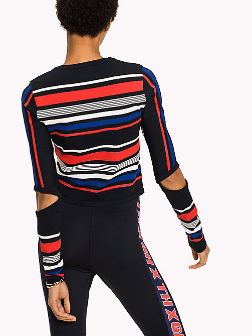 TOMMY HILFIGER Gigi Hadid Striped Sweater - MIDNIGHT / MULTI - TOMMY HILFIGER TOMMYXGIGI - detail image 1
