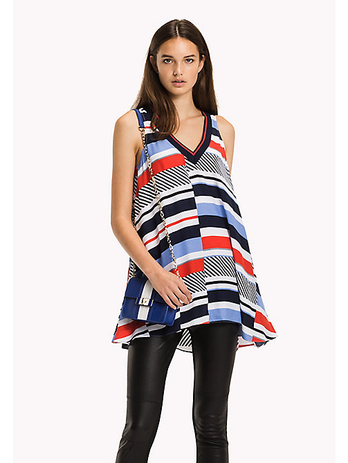 TOMMY HILFIGER Regular Fit Top - SPEED PATCHWORK STP / BLACK BEAUTY - TOMMY HILFIGER NEW IN - main image