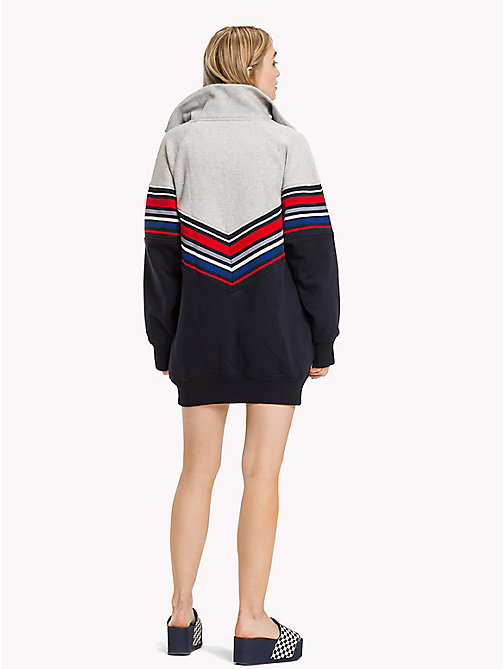 TOMMY HILFIGER Gigi Hadid Stripe Sweater Dress - MIDNIGHT / LGHT GREY HTHR - TOMMY HILFIGER Jumper Dresses - detail image 1