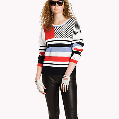 TOMMY HILFIGER  - CLASSIC WHITE / BLACK BEAUTY / MULTI -   - главное изображение