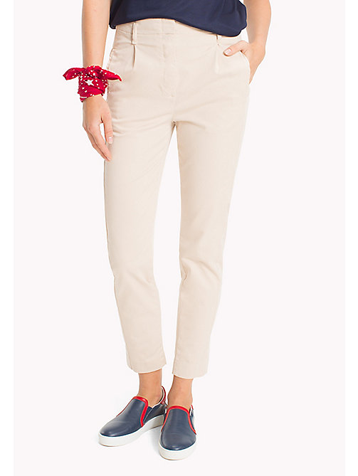 TOMMY HILFIGER Organic Cotton Regular Fit Chinos - PEBBLE - TOMMY HILFIGER Clothing - main image