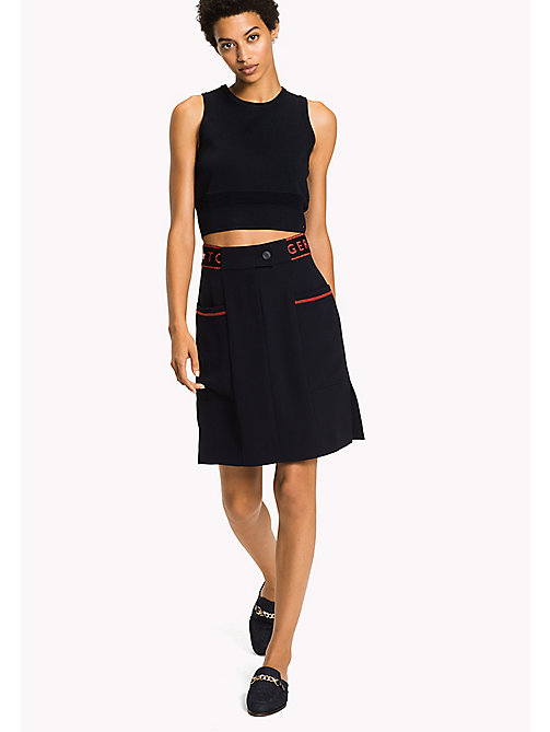 TOMMY HILFIGER A-Line Skirt - MIDNIGHT - TOMMY HILFIGER Clothing - main image