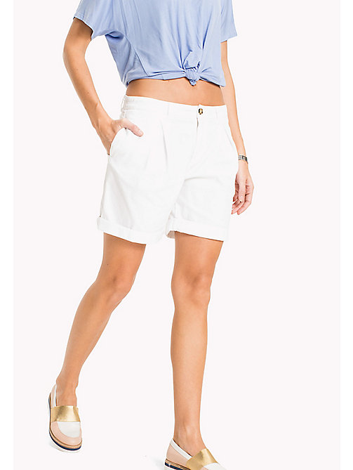 TOMMY HILFIGER Regular Fit Shorts - CLASSIC WHITE - TOMMY HILFIGER Trousers & Shorts - main image